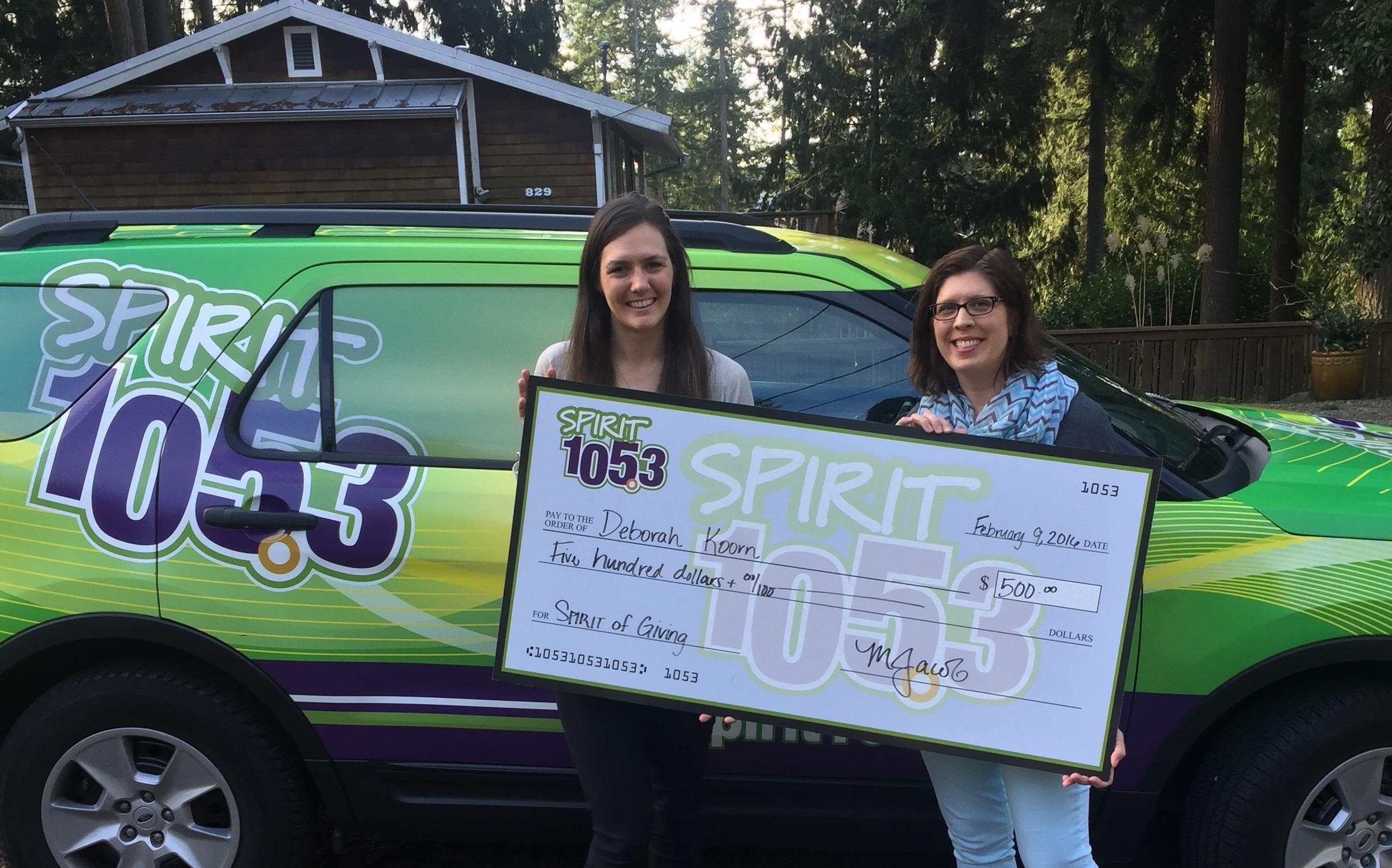 SPIRIT of Giving Winner: Deborah Koorn