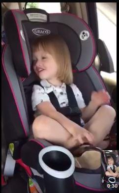 Sweet Child Singing in Backseat