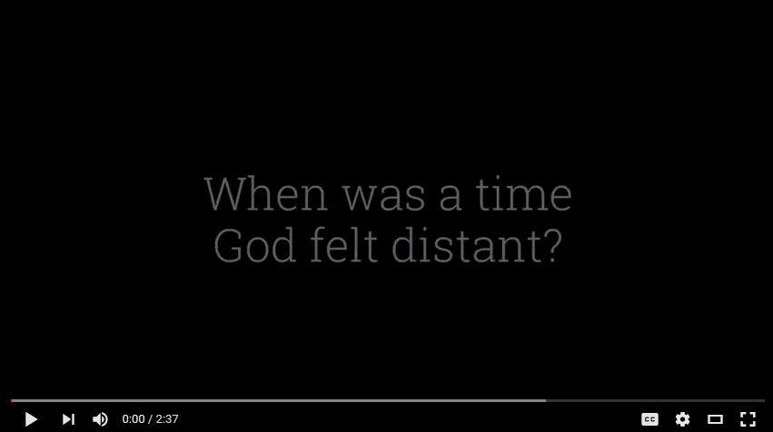 A Time God Felt Distant