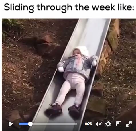 Sliding Through the Week