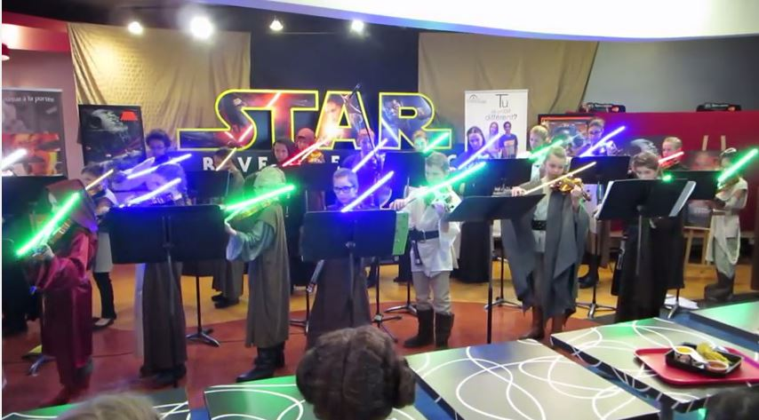 Star Wars Student Orchestra with Light Sabers