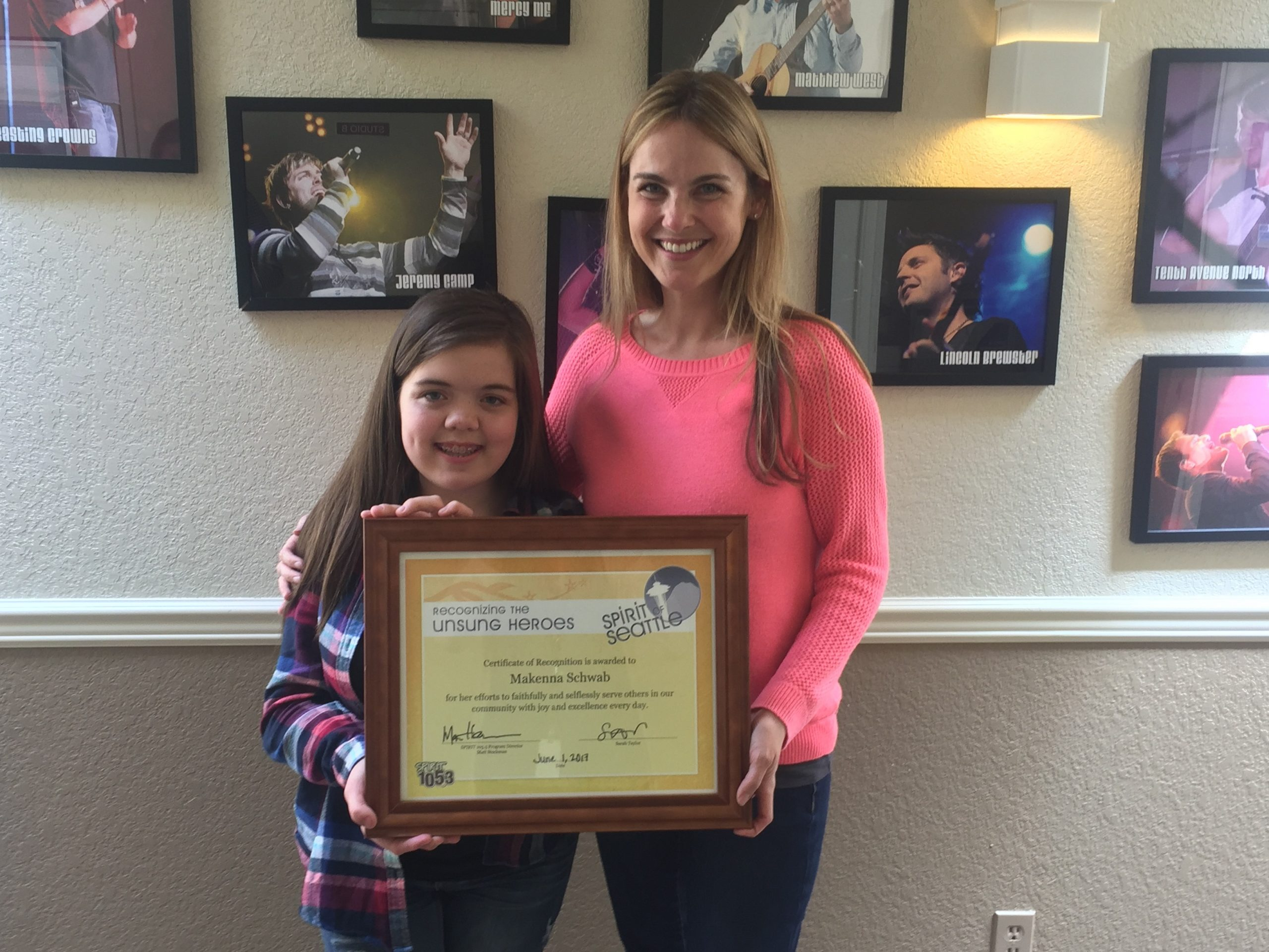 SPIRIT 105.3 Recognizes an Unsung Hero - Makenna Schwab