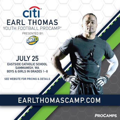 Win tickets to the Earl Thomas Youth Football Procamp on July 25th!