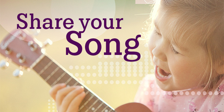 Share a video of your child singing!
