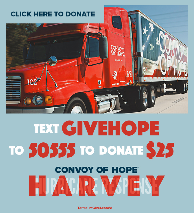 We're Partnering with Convoy of Hope to Help Hurricane Victims