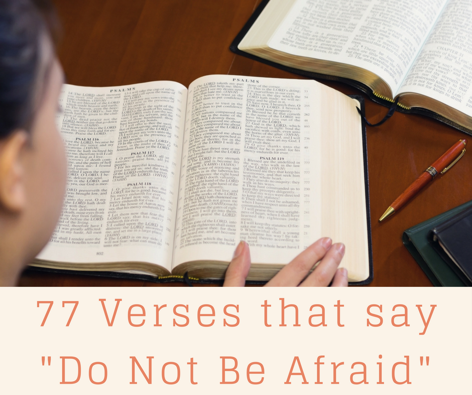 """77 Verses That Say """"Do Not Be Afraid"""""""