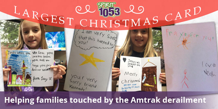 The Largest Christmas Card: Helping Families Touched by the Amtrak Derailment