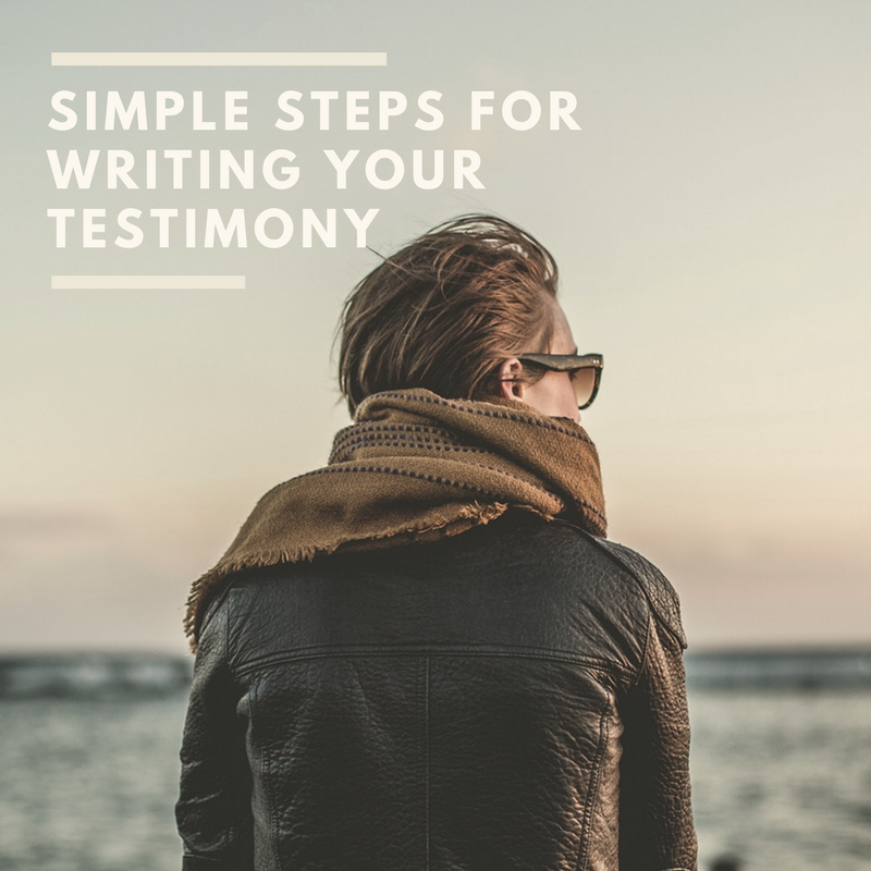 Pastor's Perspective: Writing A Testimony