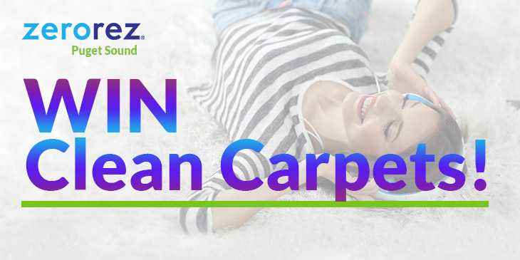 Win a 3-room carpet cleaning by Zerorez!