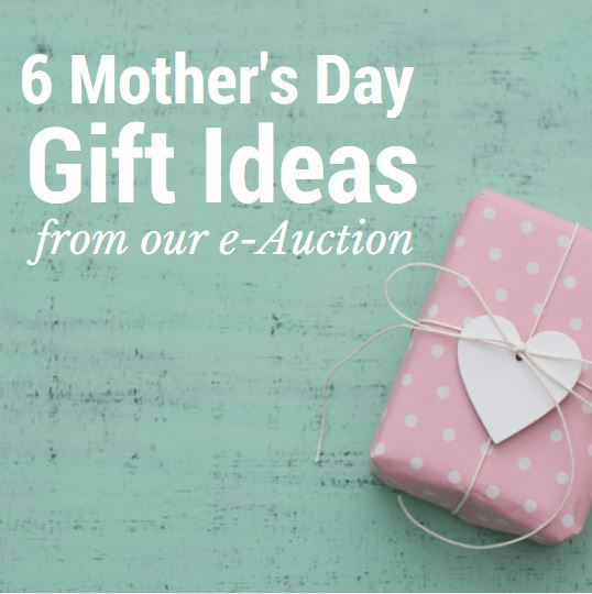 6 Mother's Day Gifts from our e-Auction