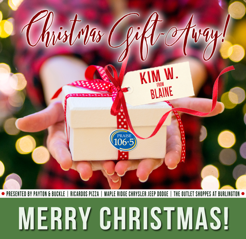 Christmas Gift Away Recipient #3: Kim W!