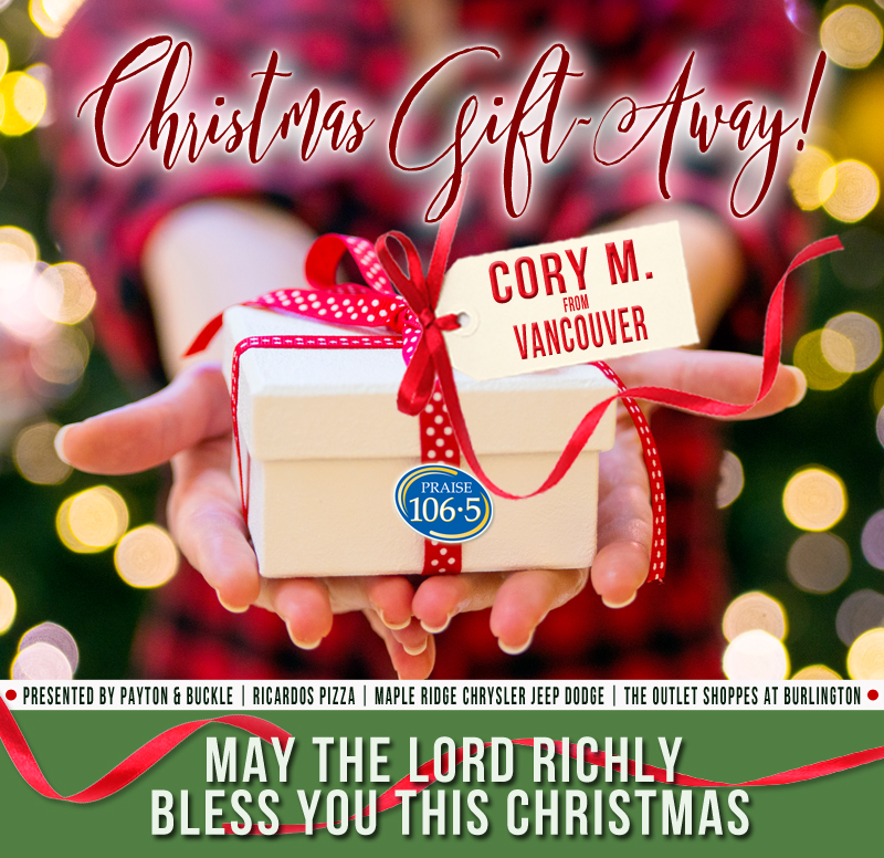 Christmas Gift Away Recipient #4: Cory M!