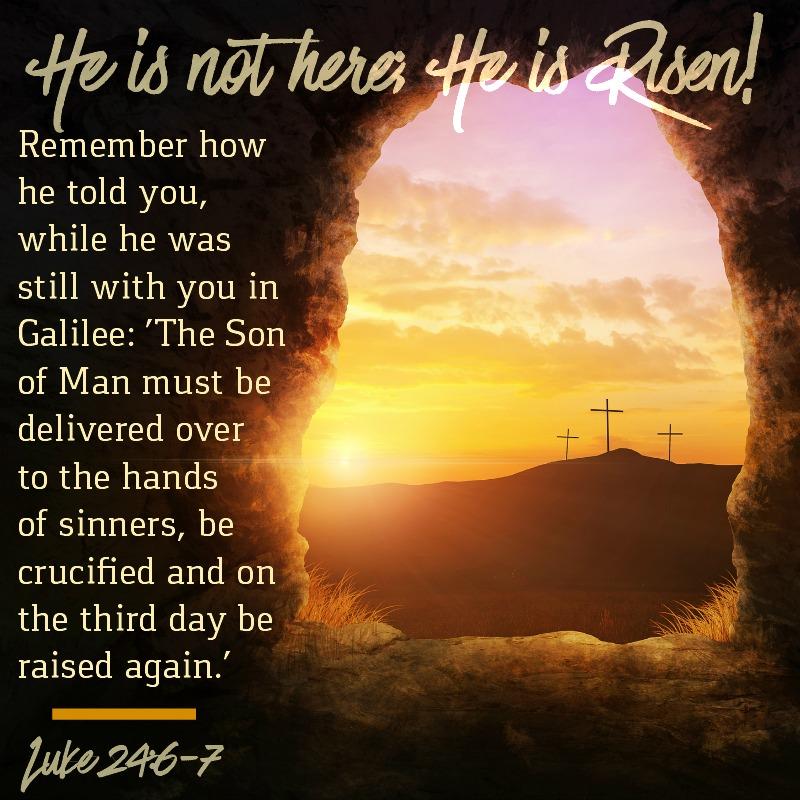 Luke 24:6-7