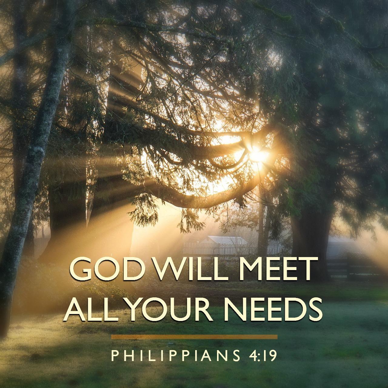 May 2 - Philippians 4:19