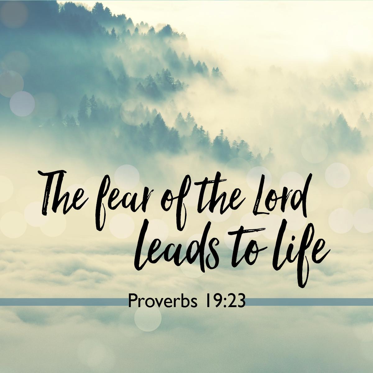 Proverbs 19:23