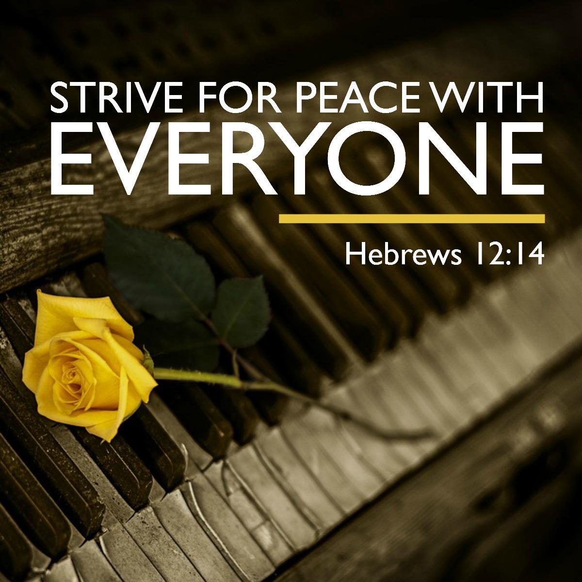 Hebrews 12:14