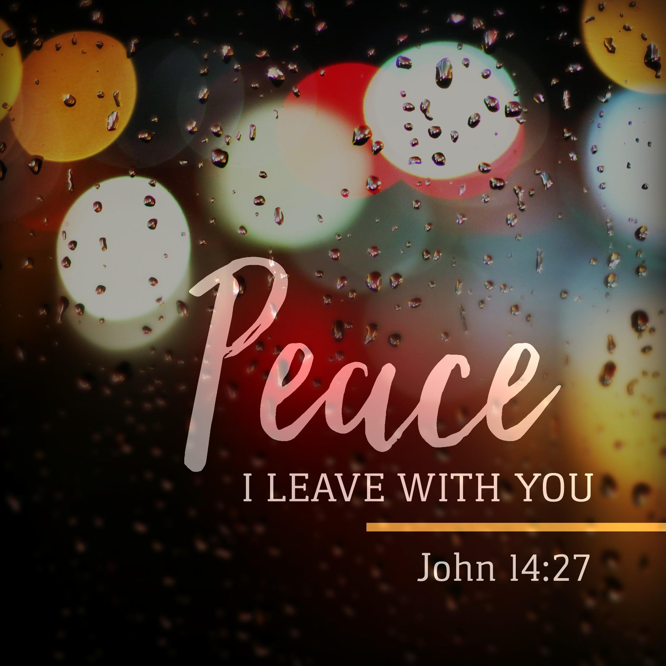 May 27: John 14:27