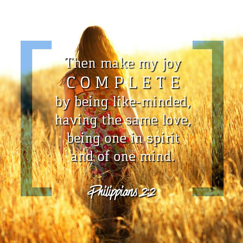 Daily Verse: Philippians 2:2