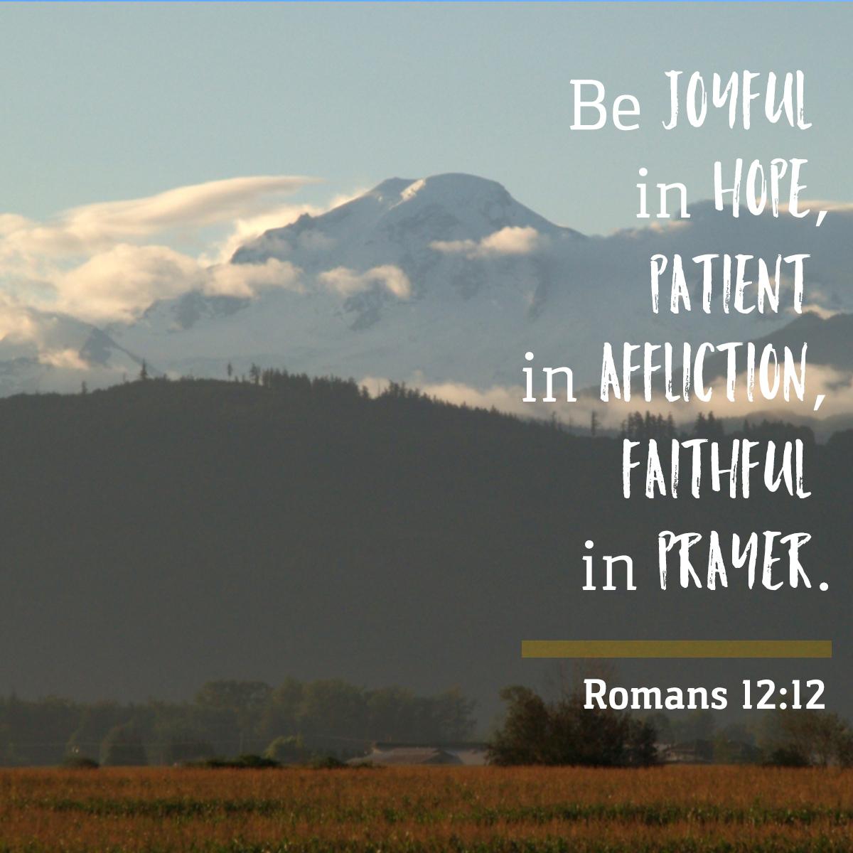Daily Verse - Romans 12:12