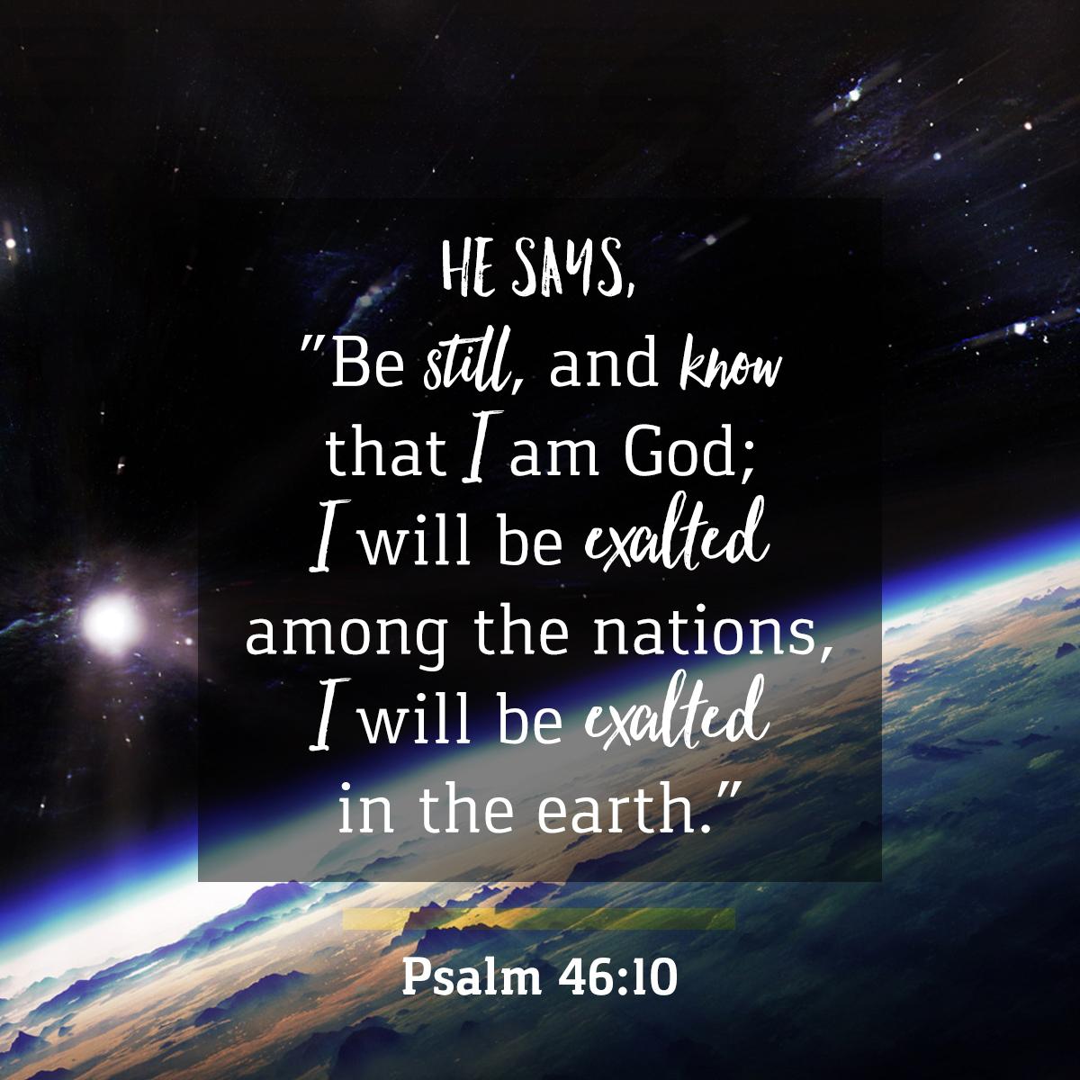 Verse - Psalm 46:10