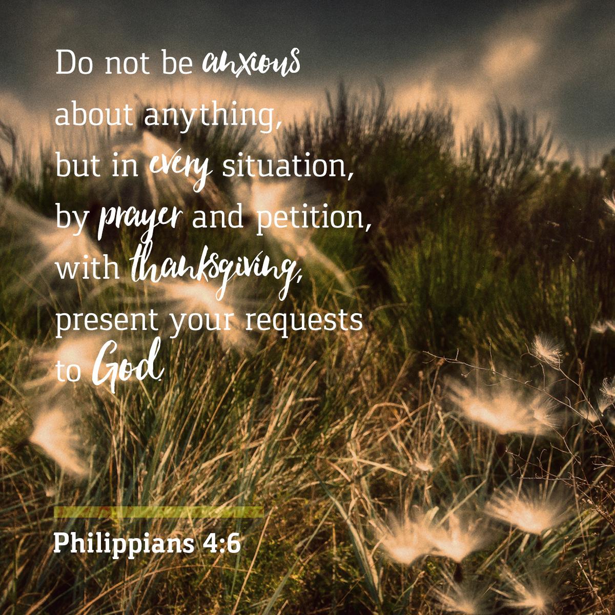 Philippians 4:6 - Daily Verse