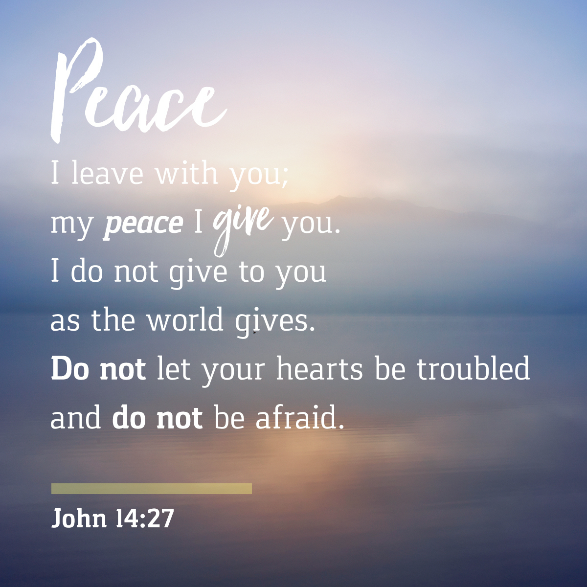 John 14:27 - Daily Verse