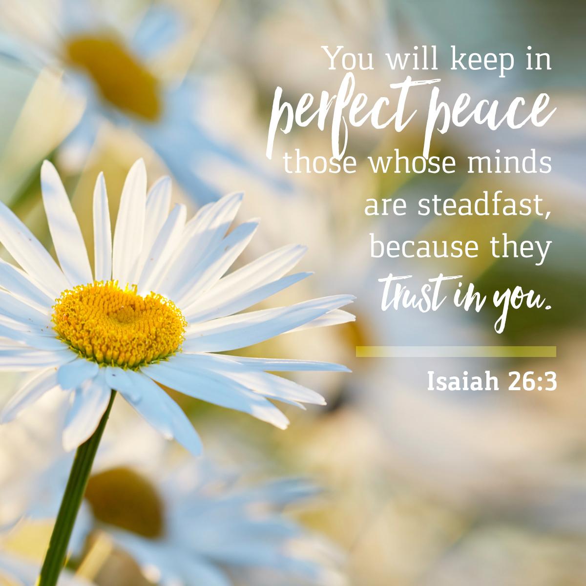 Isaiah 26:3 - Daily Verse