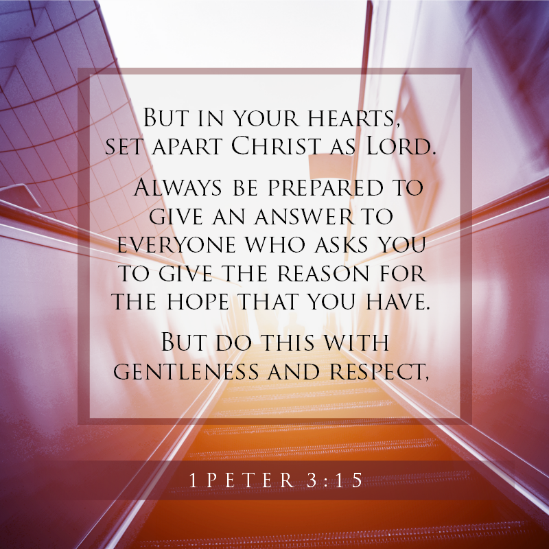 1 Peter 3:15 - Daily Verse