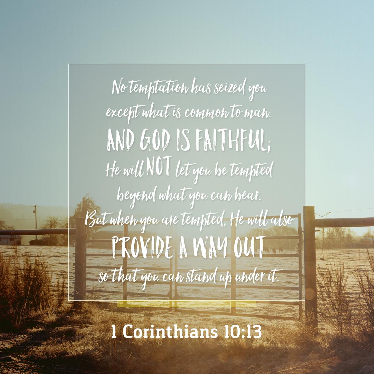 1 Corinthians 10:13 - Daily Verse