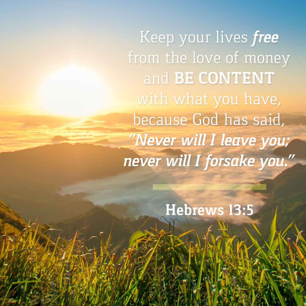 Hebrews 13:5 - Daily Verse