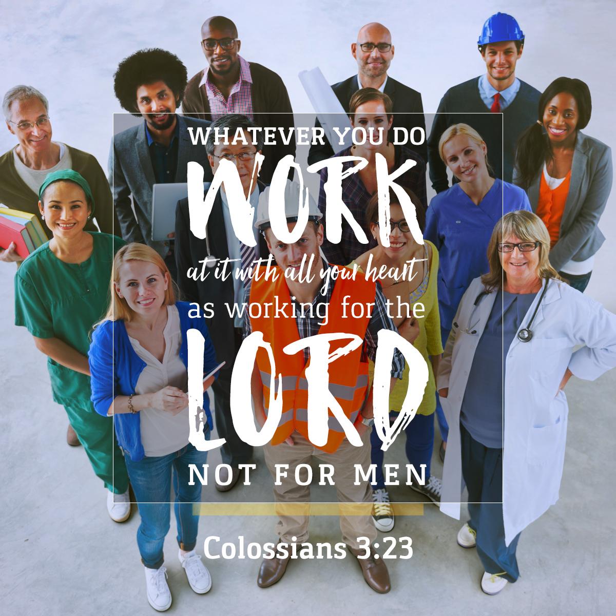 Colossians 3:23 - Daily Verse