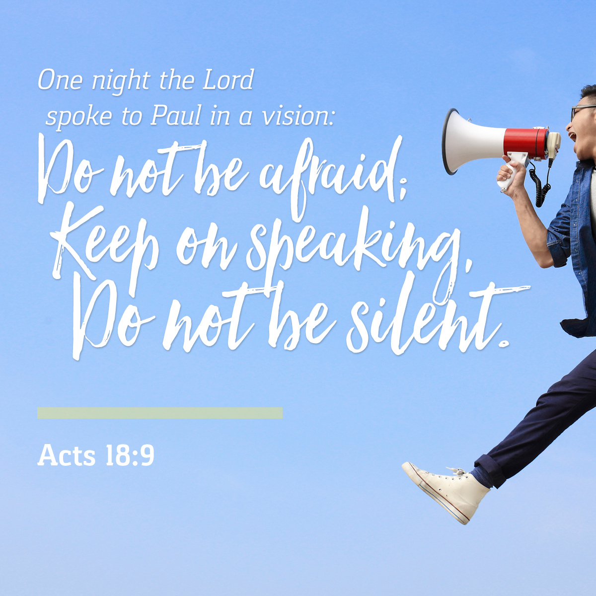 Acts 18:9 - Daily Verse