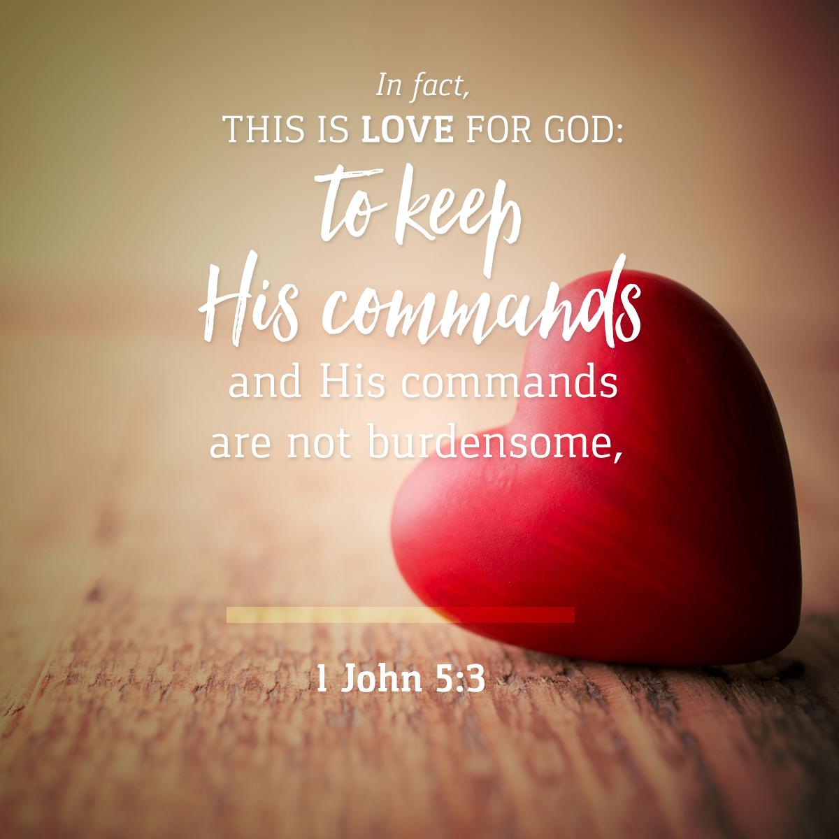 1 John 5:3 - Daily Verse