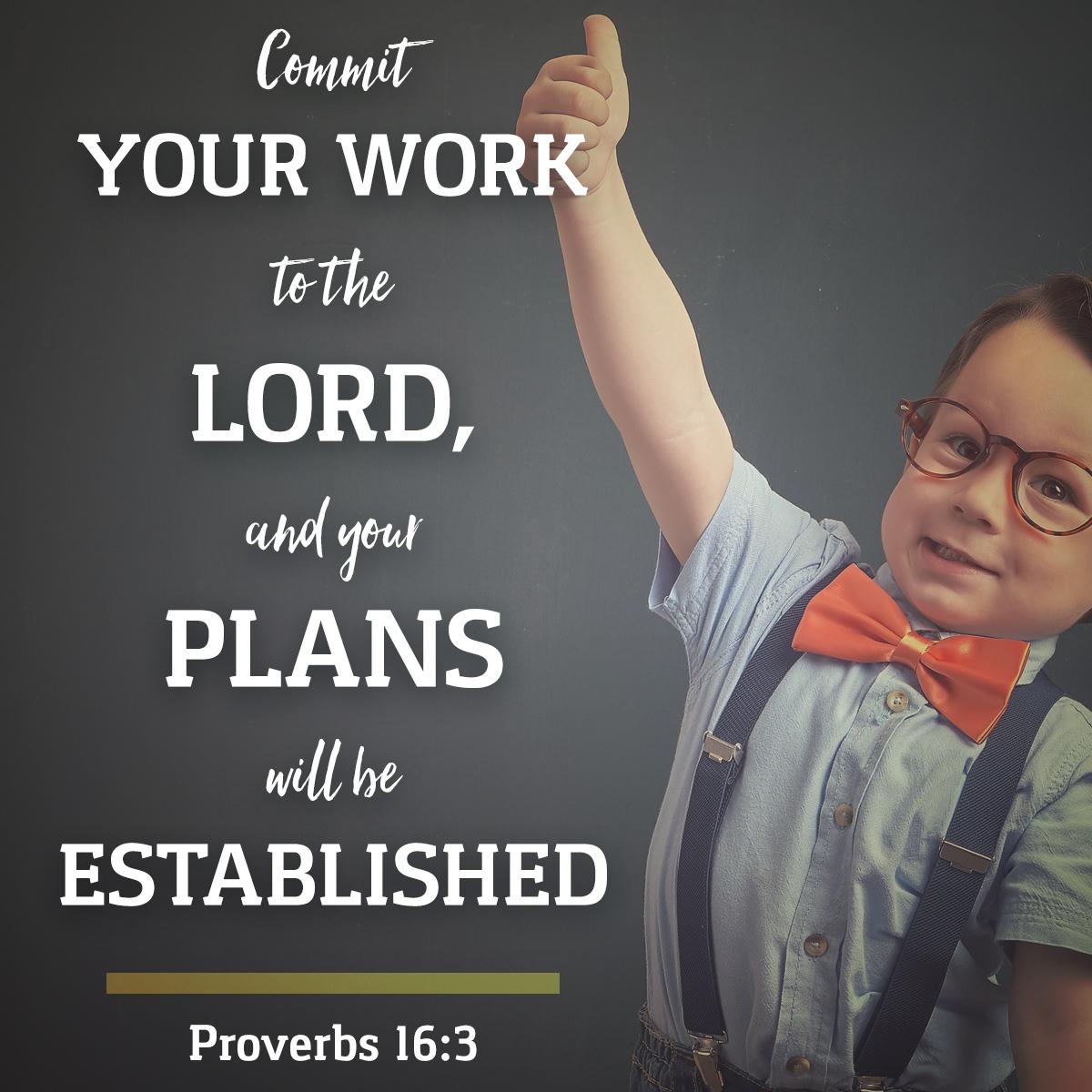 Proverbs 16:3 - Daily Verse