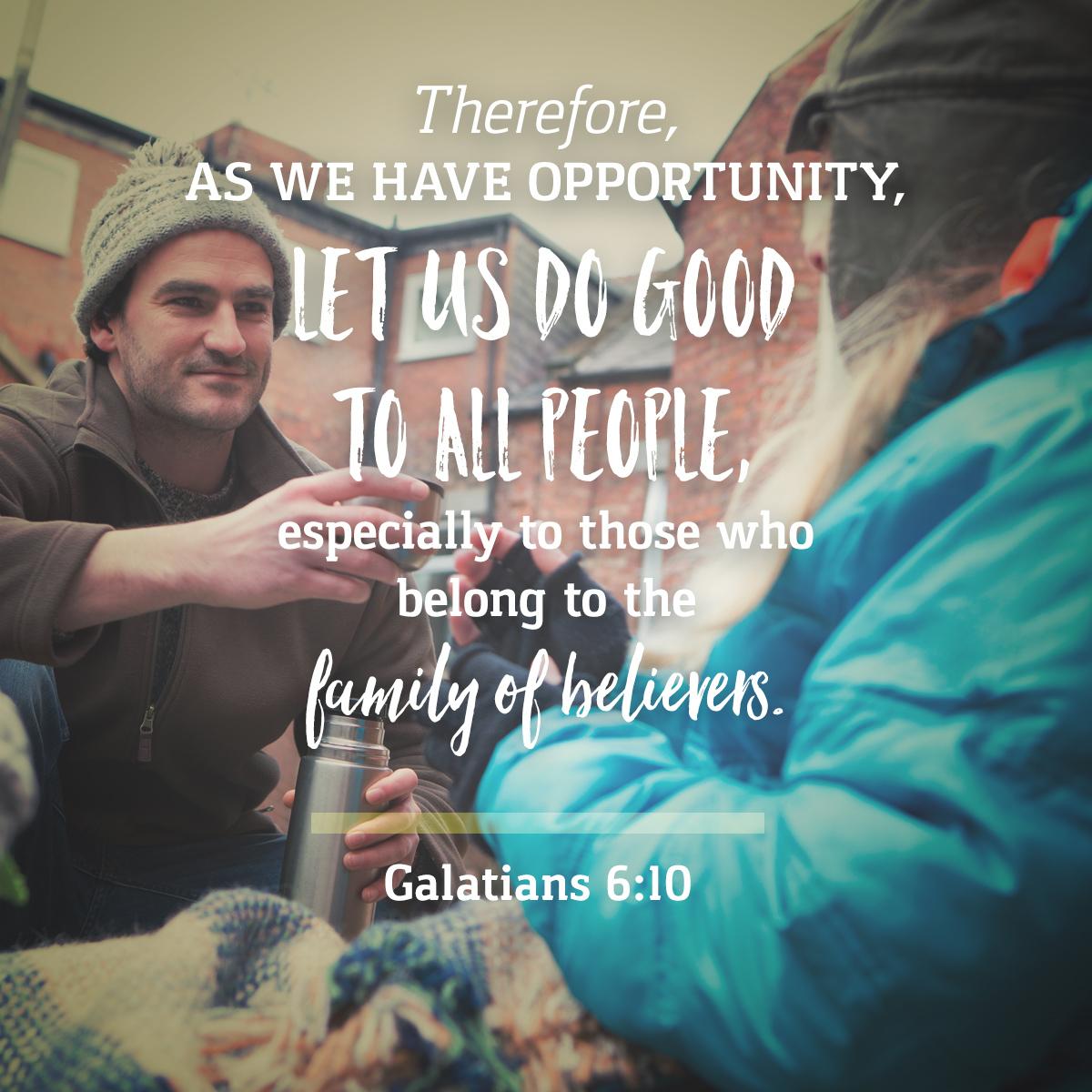Galatians 6:10 - Daily Verse