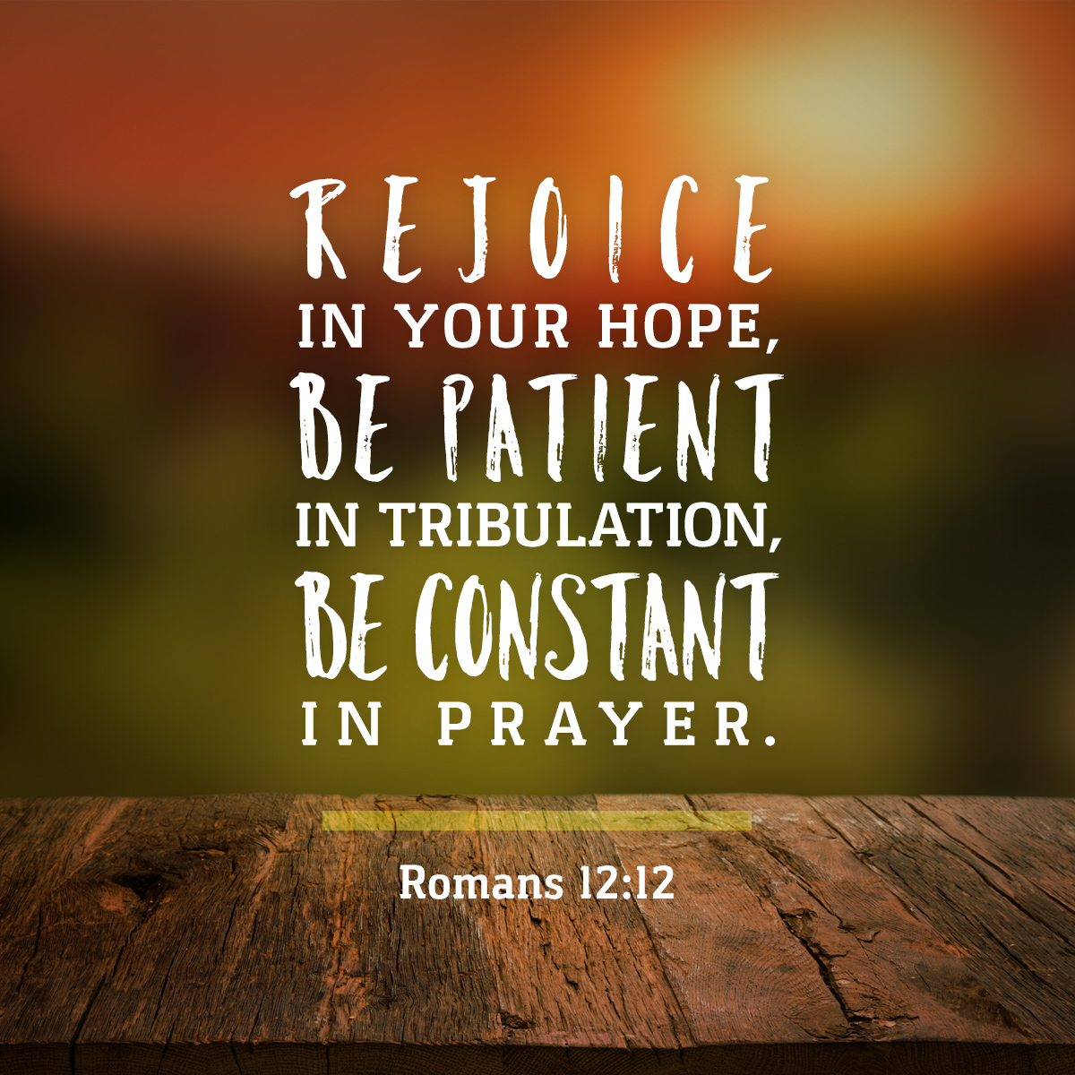 Romans 12:12 Daily Verse