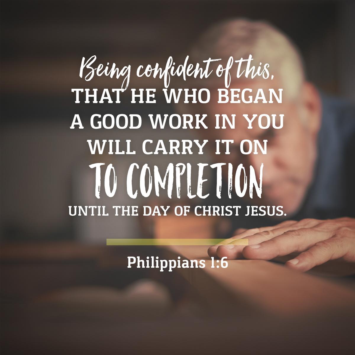 Philippians 1:6 Daily Verse