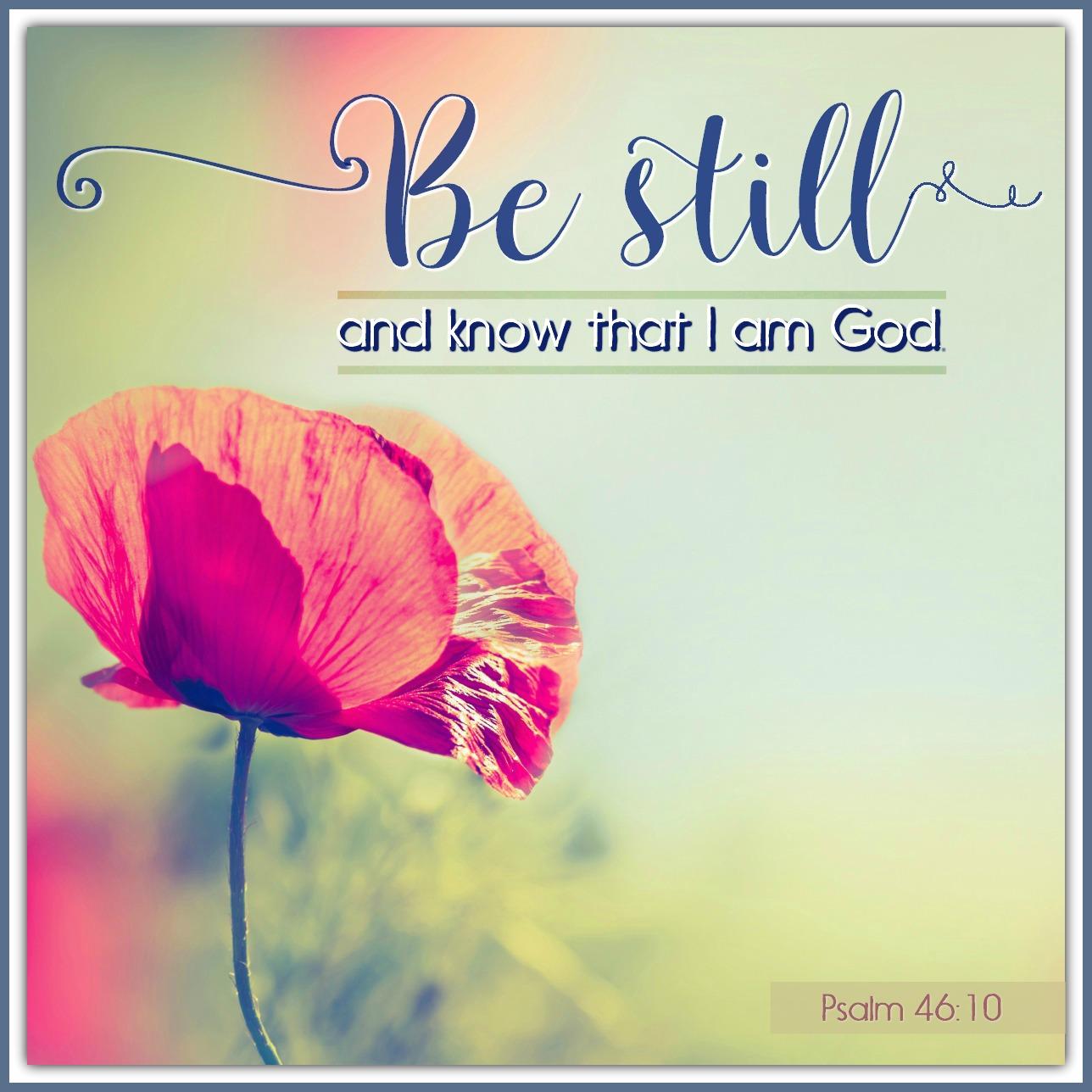 Verse: Psalm 46:10