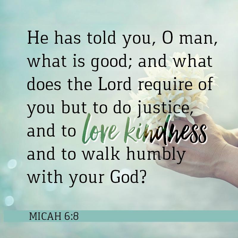 Daily Verse: Micah 6:8