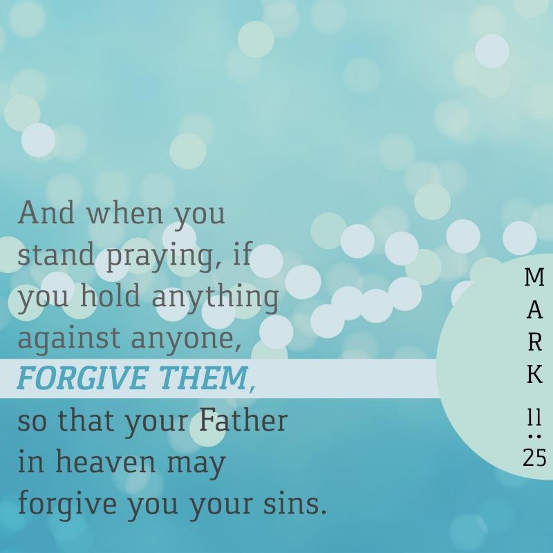 Daily Verse: Mark 11:25