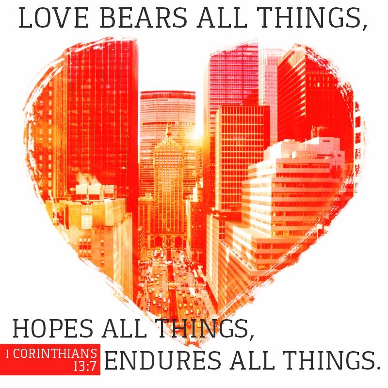 Daily Verse: 1 Corinthians 13:7
