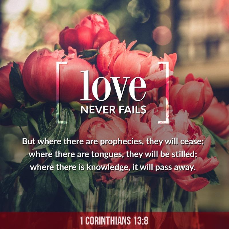 Daily Verse: 1 Corinthians 13:8