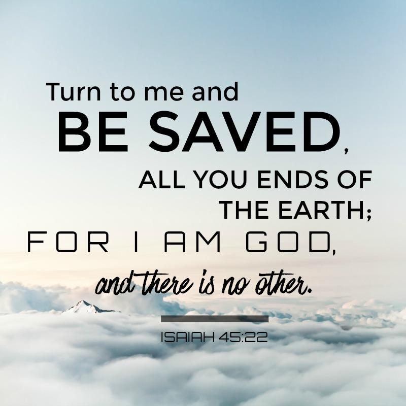 Daily Verse: Isaiah 45:22