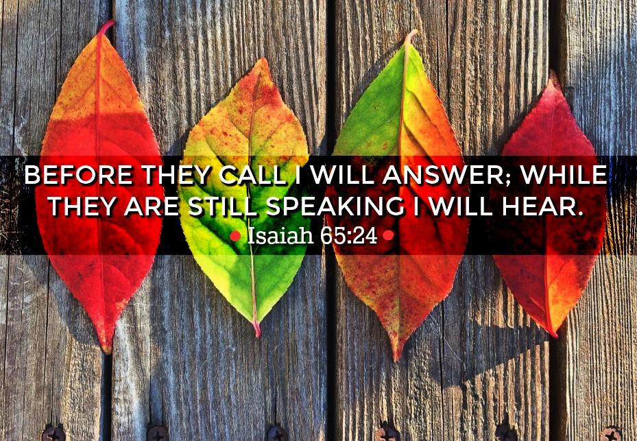 Daily Verse: Isaiah 65:24