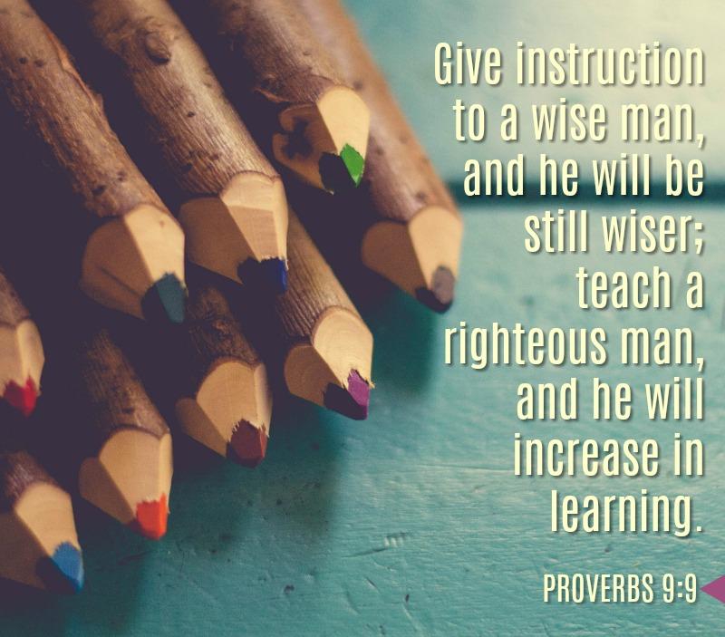 Daily Verse: Proverbs 9:9