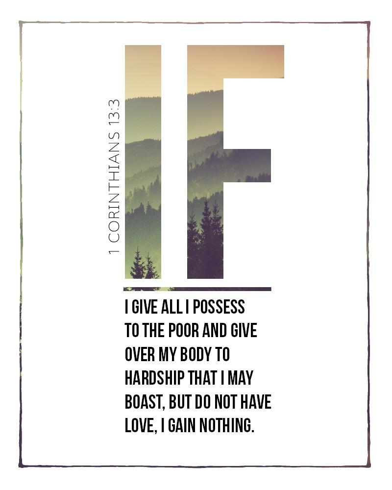 Daily Verse: 1 Corinthians 13:3