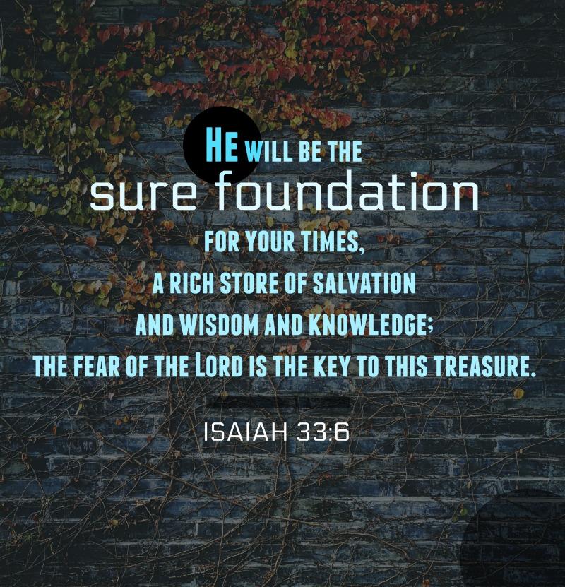 Daily Verse: Isaiah 33:6
