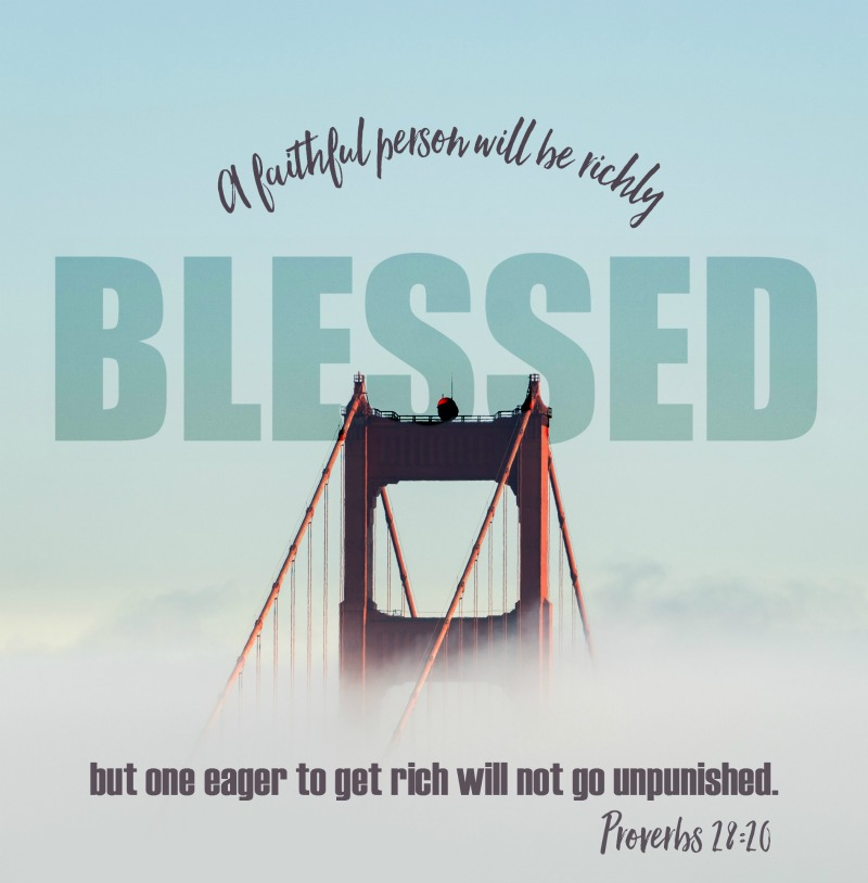Daily Verse: Proverbs 28:20