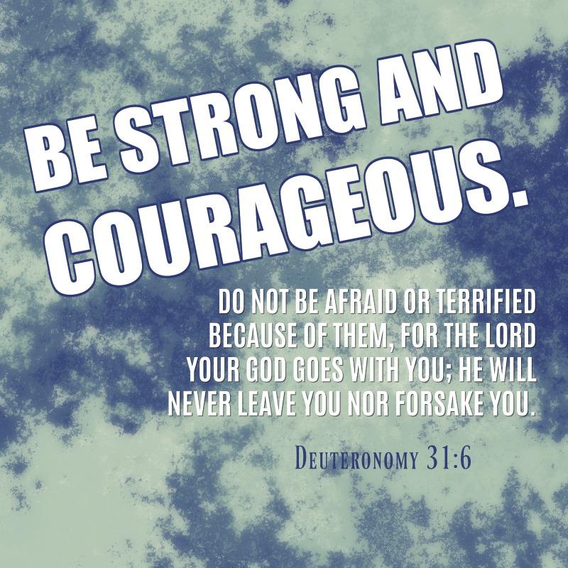 Daily Verse: Deuteronomy 31:6