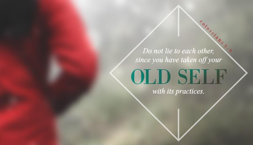 Daily Verse: Colossians 3:9